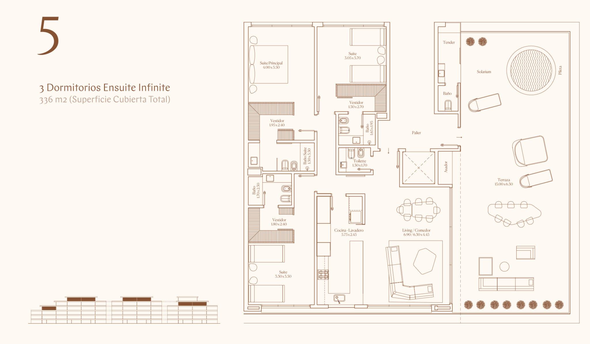3 Dormitorios Ensuite Infinite